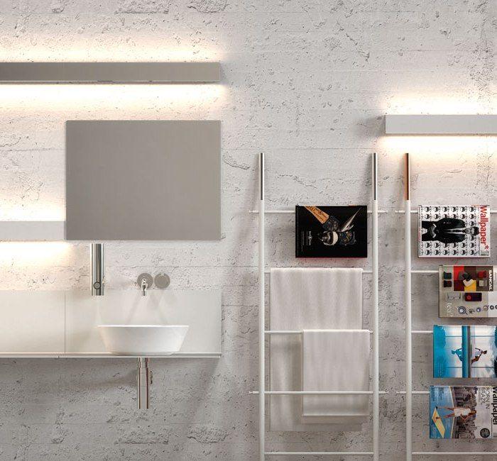applique salle de bain lampe ip s16 ip44 blanc. Black Bedroom Furniture Sets. Home Design Ideas
