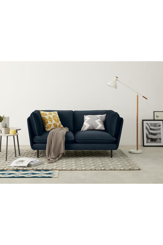 Wes 2 Sitzer Sofa Samt In Saphirblau 2 Seater Sofa Sofa Blue Velvet