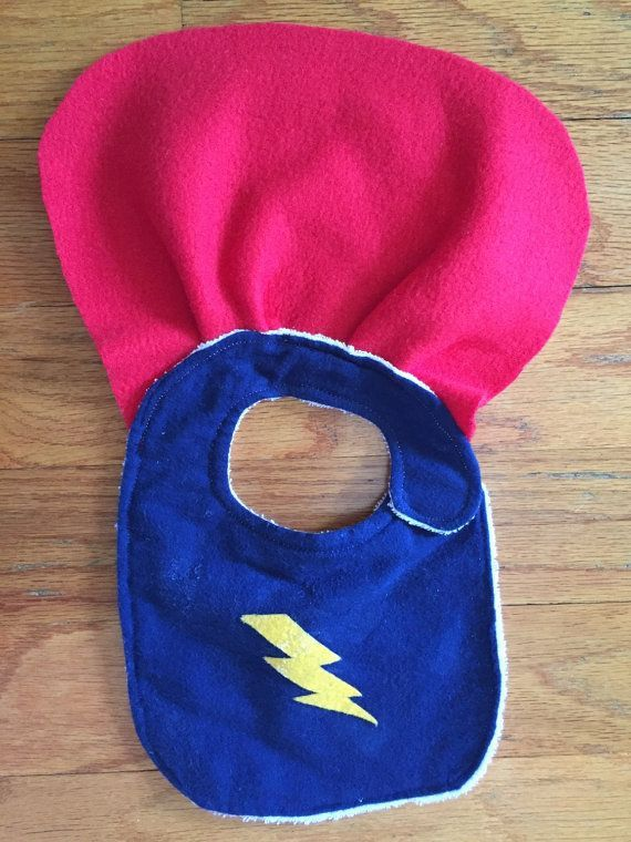 Superhero baby - teething bib - drool bib - unique baby boy gift - baby boy gift ideas - gifts for newborns - toddler bibs - baby presents