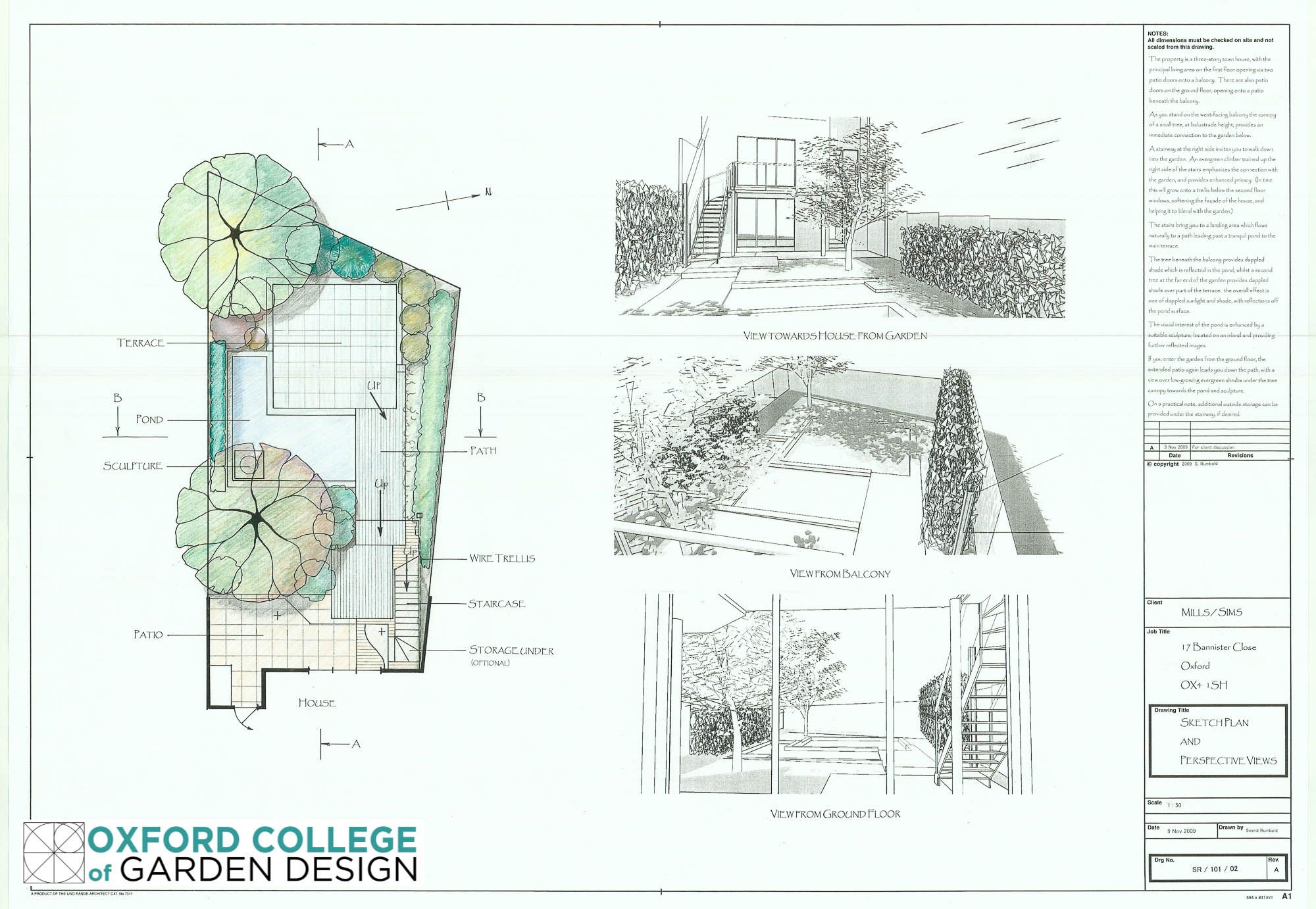 House garden design drawing - Project 1 Courtyard Garden Comprising Sketch Plan Bubble Diagram Planting Plan 3d Perspective
