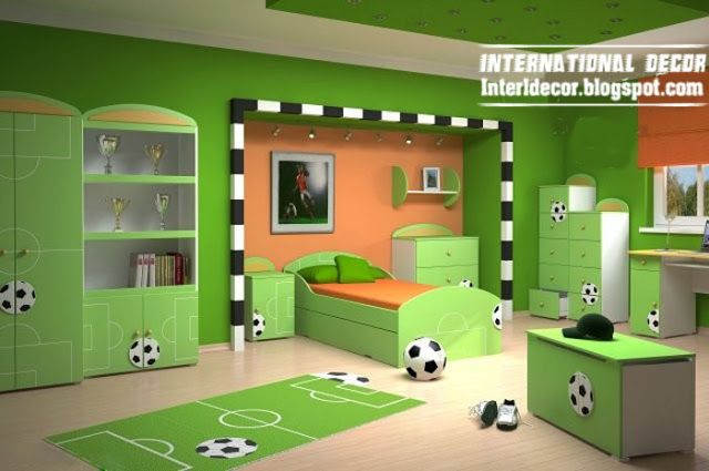Awesome Sport Bedroom Ideas For A Boy And Girl | ... Bedroom Theme Green  Kids Room Schemes Basketball Kids Bedroom Themes