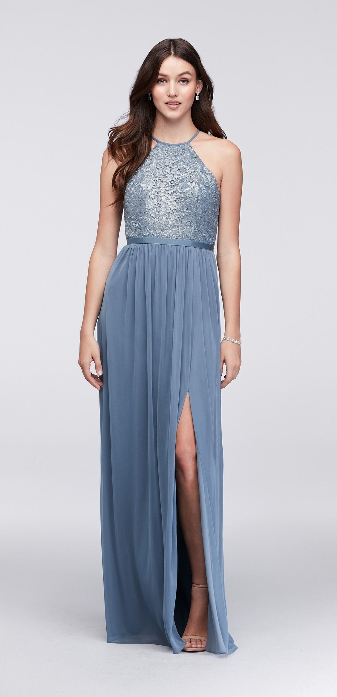 c03b180e80f Steel Blue Lace Bridesmaid Dresses - raveitsafe