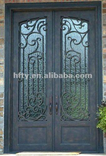 Unique Iron Double Entry Doors