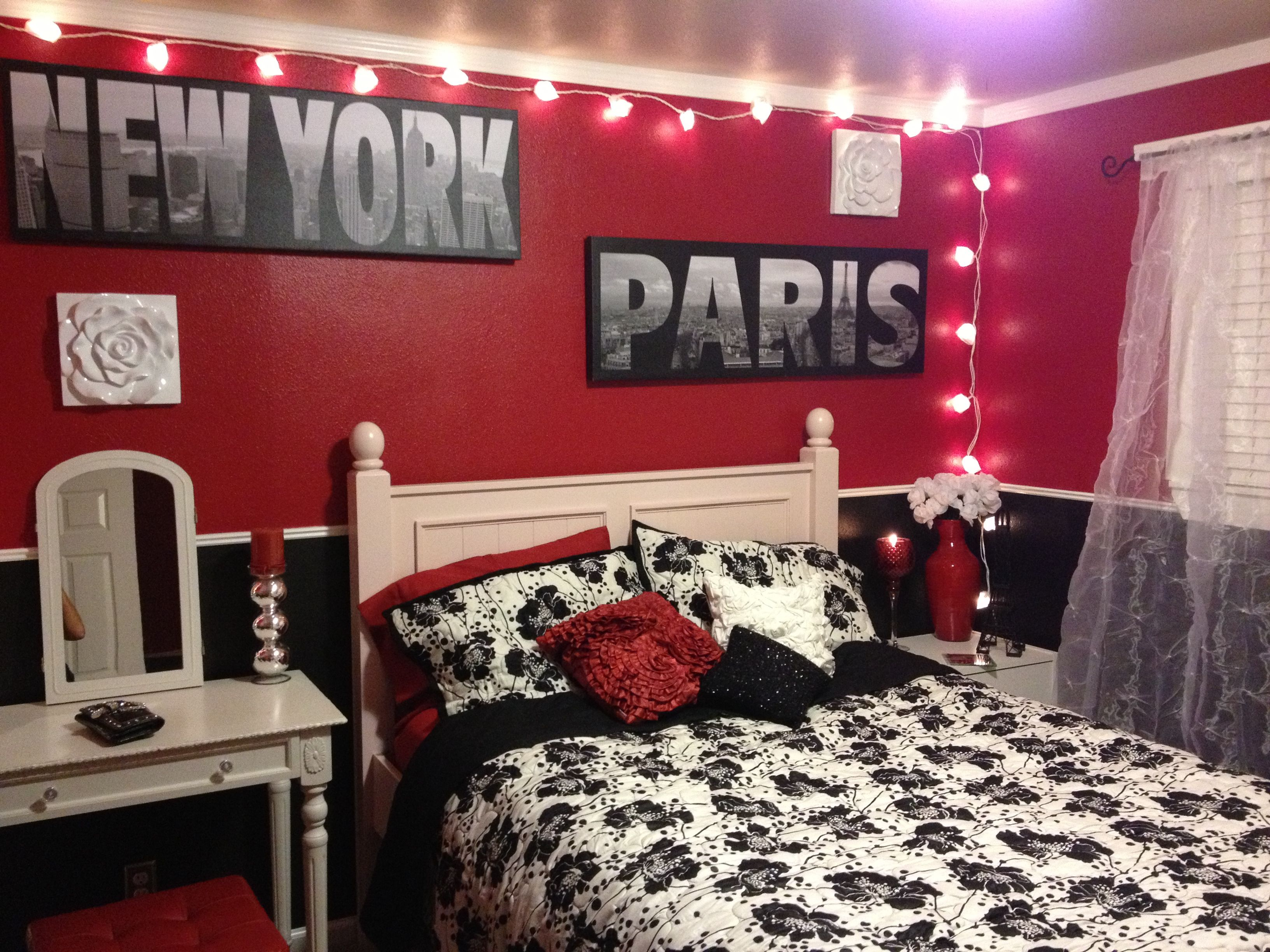 London Paris New York bedroom Room Pinterest