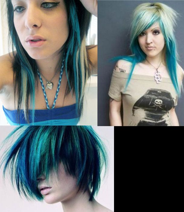 Blond Meche Bleue Coiffure Et Coloration Forum Beaute Meches Bleues Coiffures Bleues Coiffure