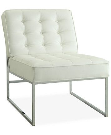 Nevyn Wide Faux Leather Accent Chair White Leather Chair Chair Accent Chairs
