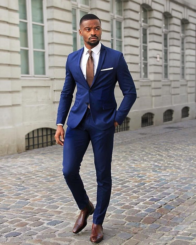 check out this ultimate navy suit and golden brown look blue blazer outfit men blazer outfits men blue suit men blazer outfits men blue suit