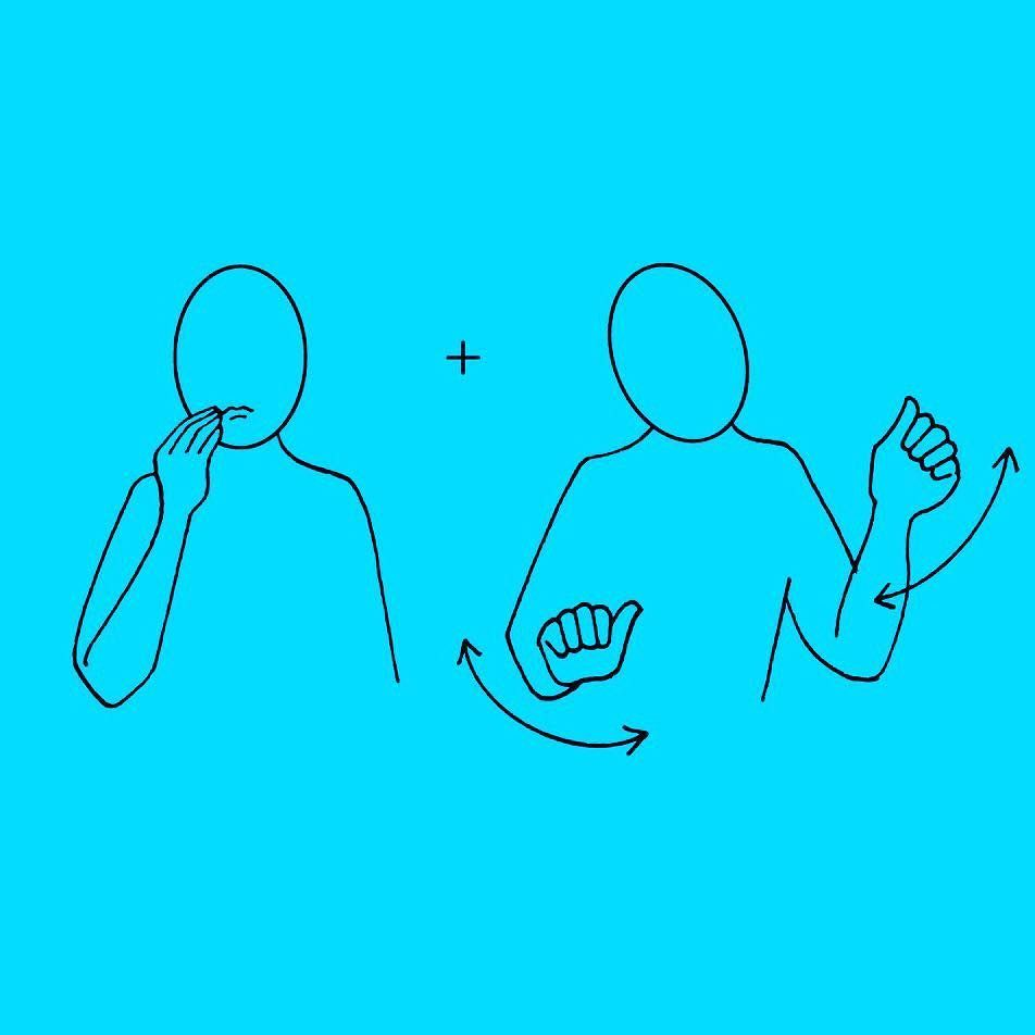 how to say party in sign language