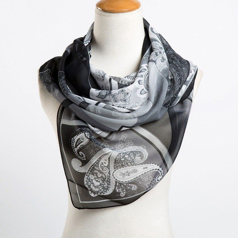 2017 NewSummer Fashion Scarfes Women's Chiffon Cashew Print Scarves Casual Wraps Echarpe Long Silk Scarf