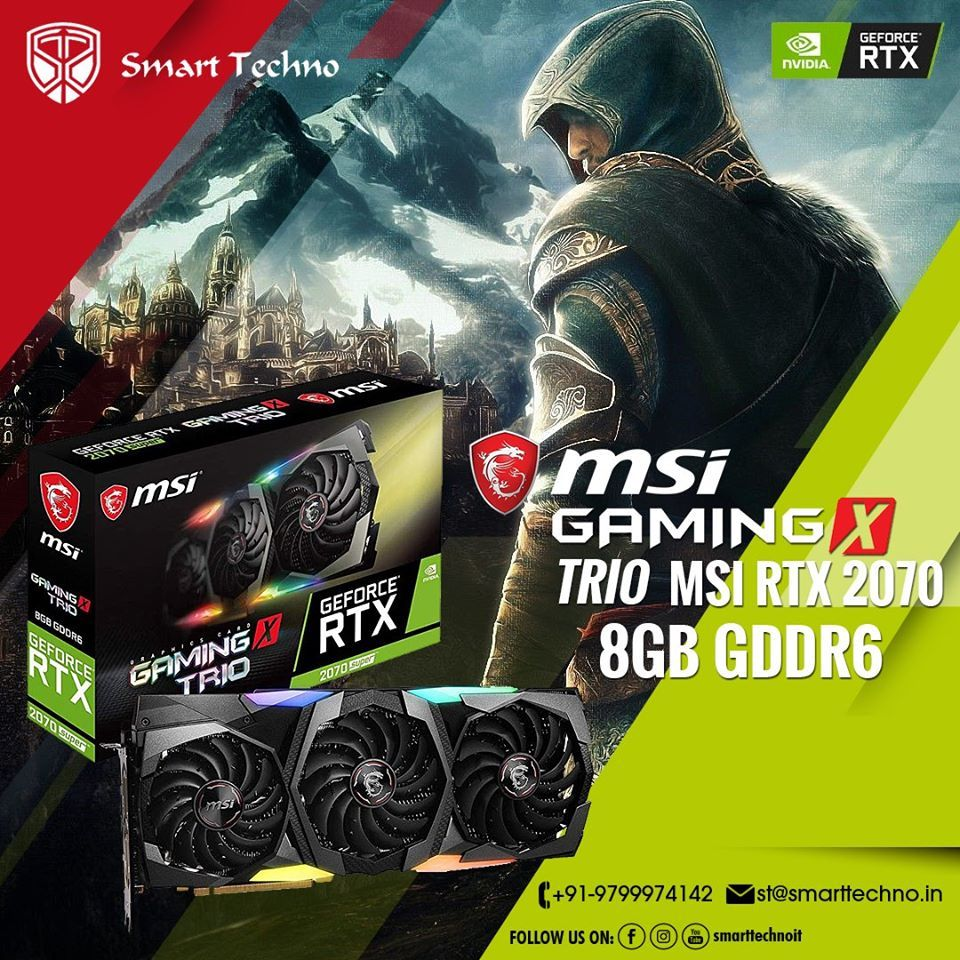 Msi geforce rtx 2070 super gaming x trio 8gb gddr6 in 2020