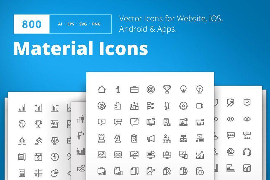 Material Design Icons Icon Design Material Design Website Icons