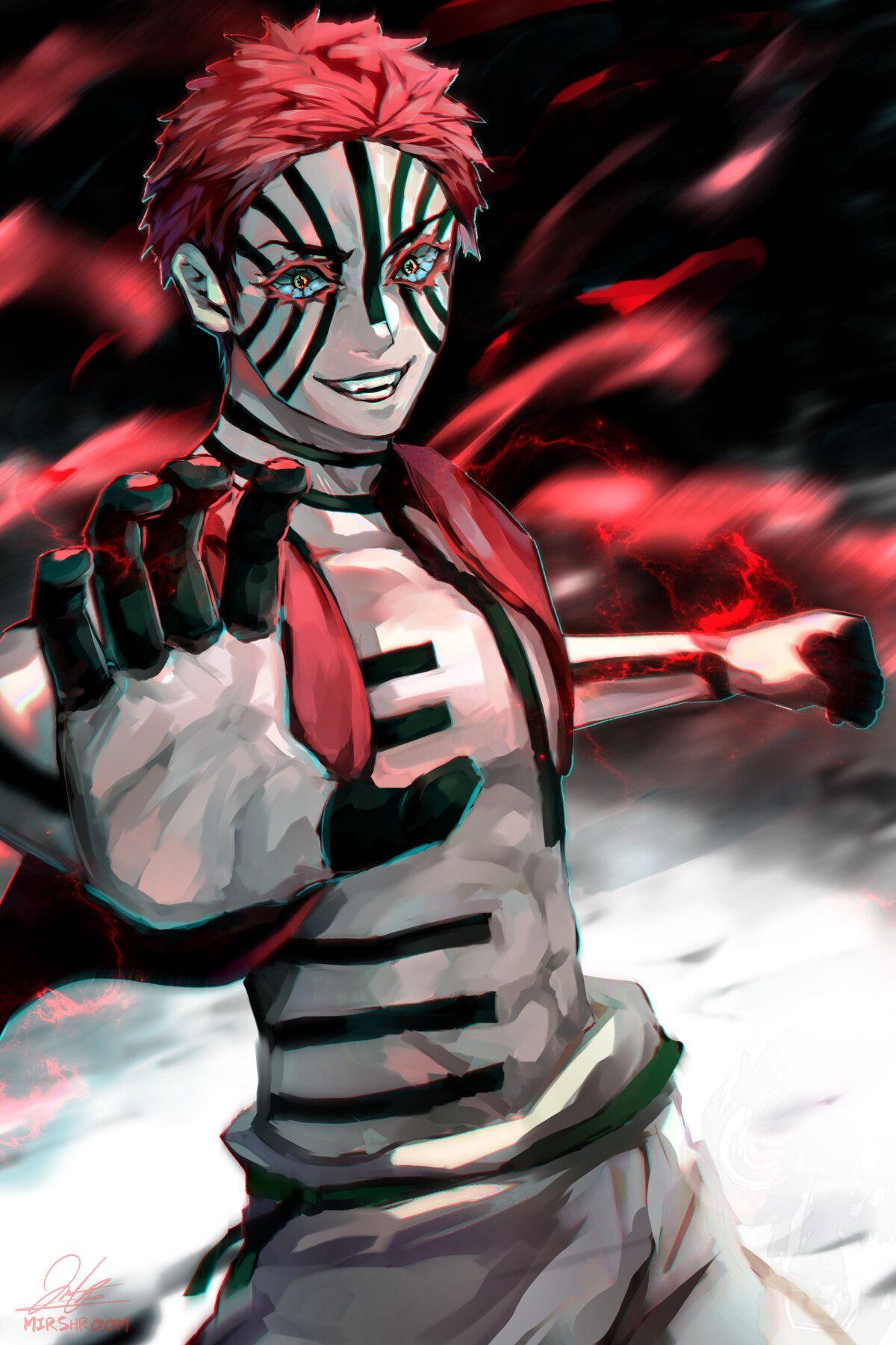 akaza art Slayer anime, Bleach characters, Anime characters