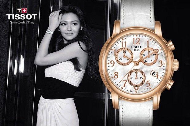 Tissot advertising campaign deepika padukone by dusan reijin for Celebrity tissot watch