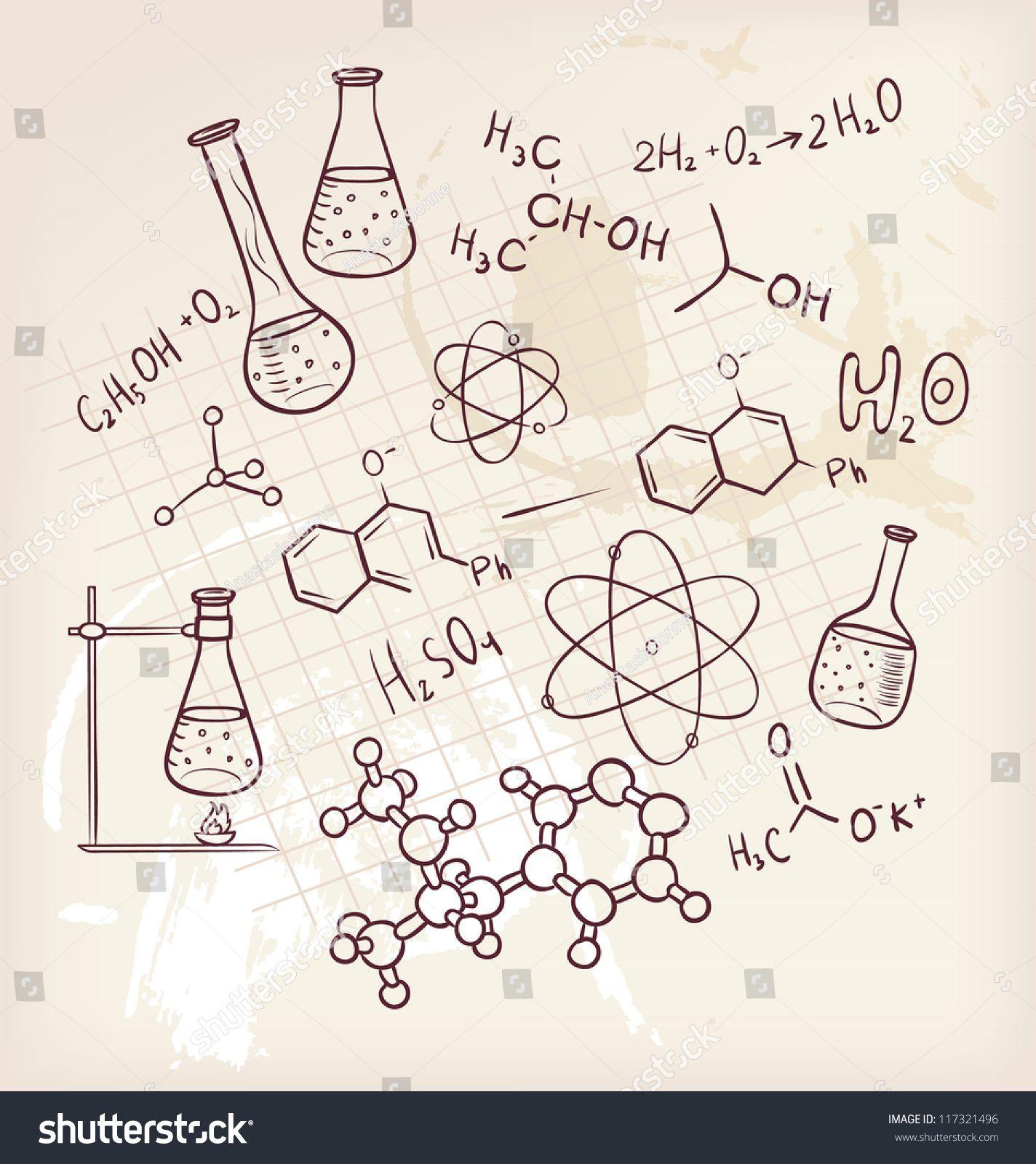 Vector Illustration Hand Draw Chemistry On Stock Vector Royalty ...