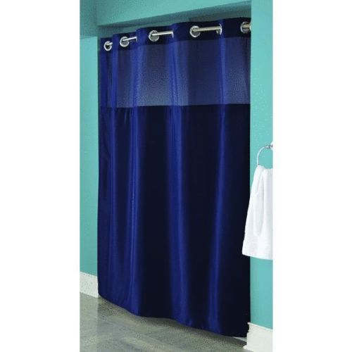 Hookless Shower Curtain Love The Color Blue Shower Curtains