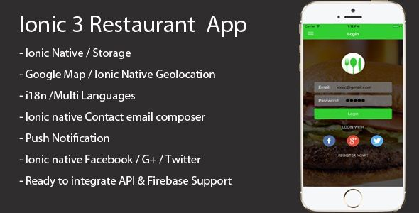 Ionic 3 Restaurant app with Firebase | Code-Scripts-and