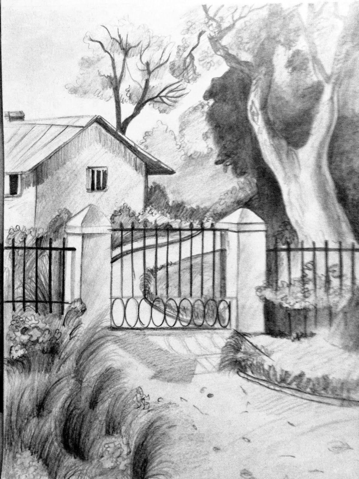 Landscape Pencil Drawings Gallery