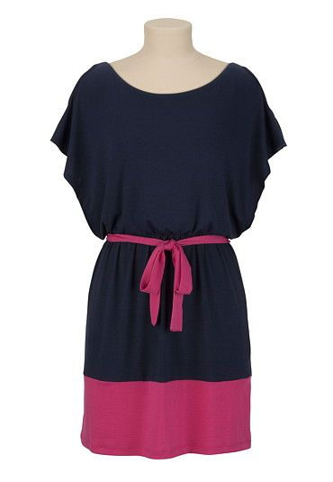 Cute and casual :)  Cold Shoulder Colorblock Dress available at #Maurices