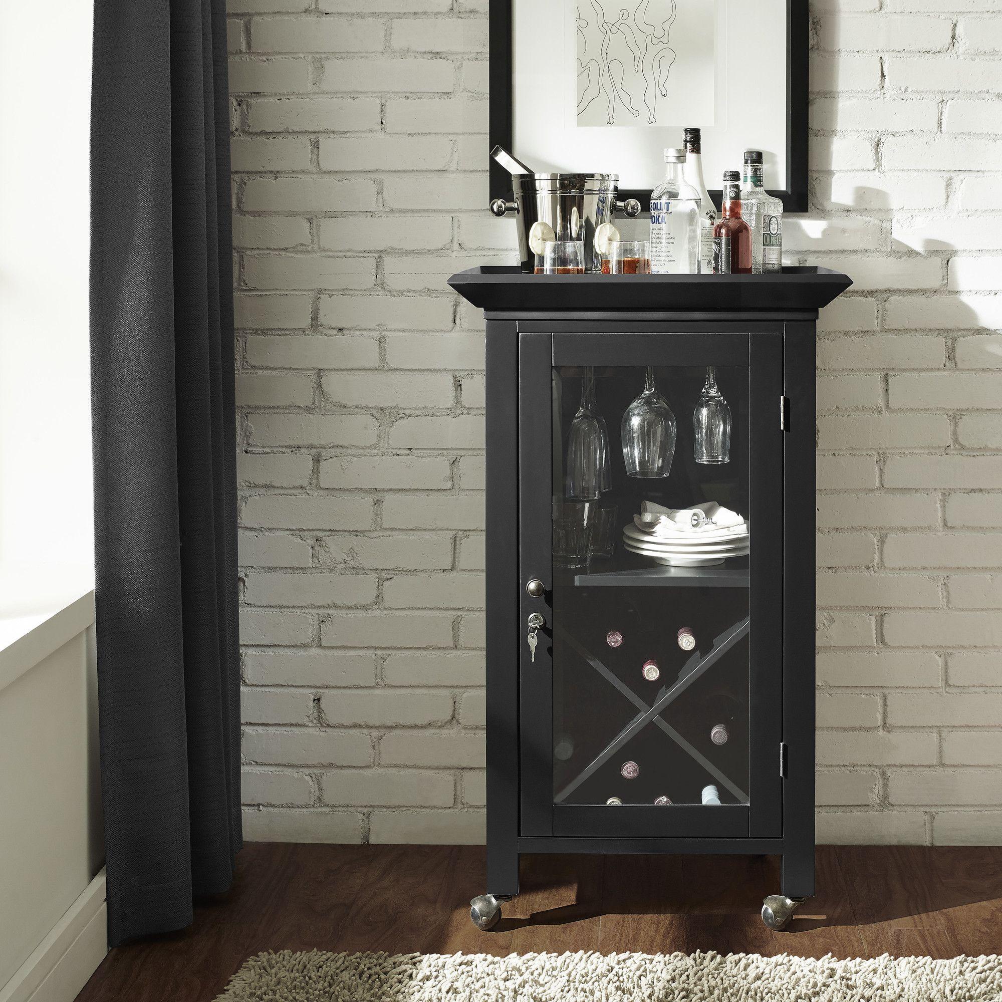 Crosley Jefferson Portable Bar Cabinet Reviews Wayfair Home Bar Cabinet Bar Furniture Bar Cabinet