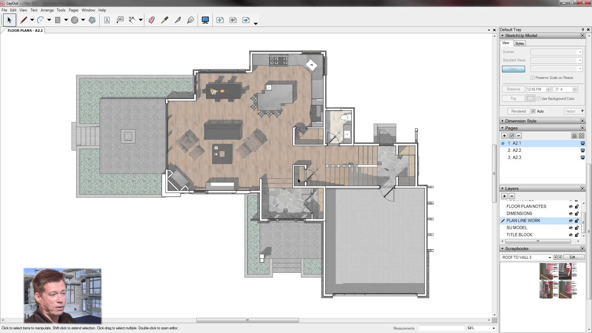 Sketchup For Construction Documentation Layout Floor Plans Template Floor Plans Layout Construction