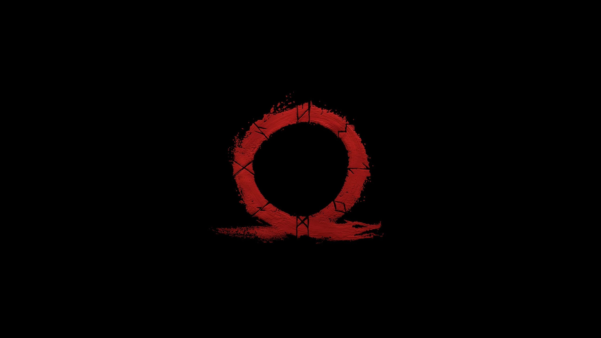 Download 2560x1440 Wallpaper God Of War Omega Logo Video Game Minimal Dual Wide Widescreen 16 9 Widescreen God Of War Music Wallpaper Simple Backgrounds