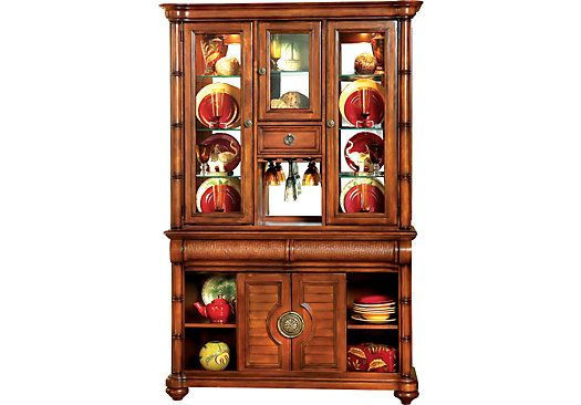 Shop For A Cindy Crawford Home Key West Dark 2 Pc China Cabinet At