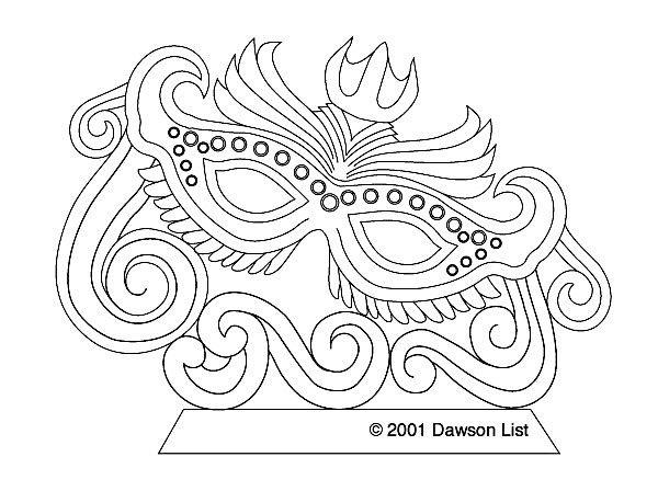 Printable Mardi Gras Masks ice