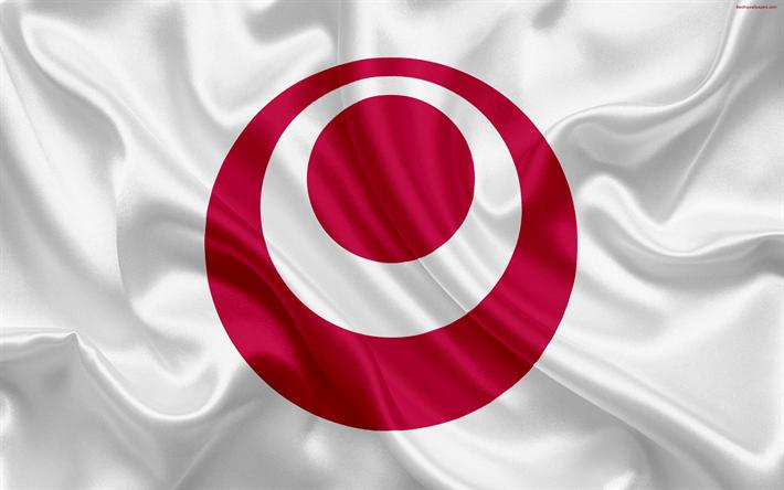 Lataa kuva Lipun Okinawan Prefektuuri, Japani, 4k, silkki lippu, Okinawa, symbolit Japanin prefektuurit, tunnus