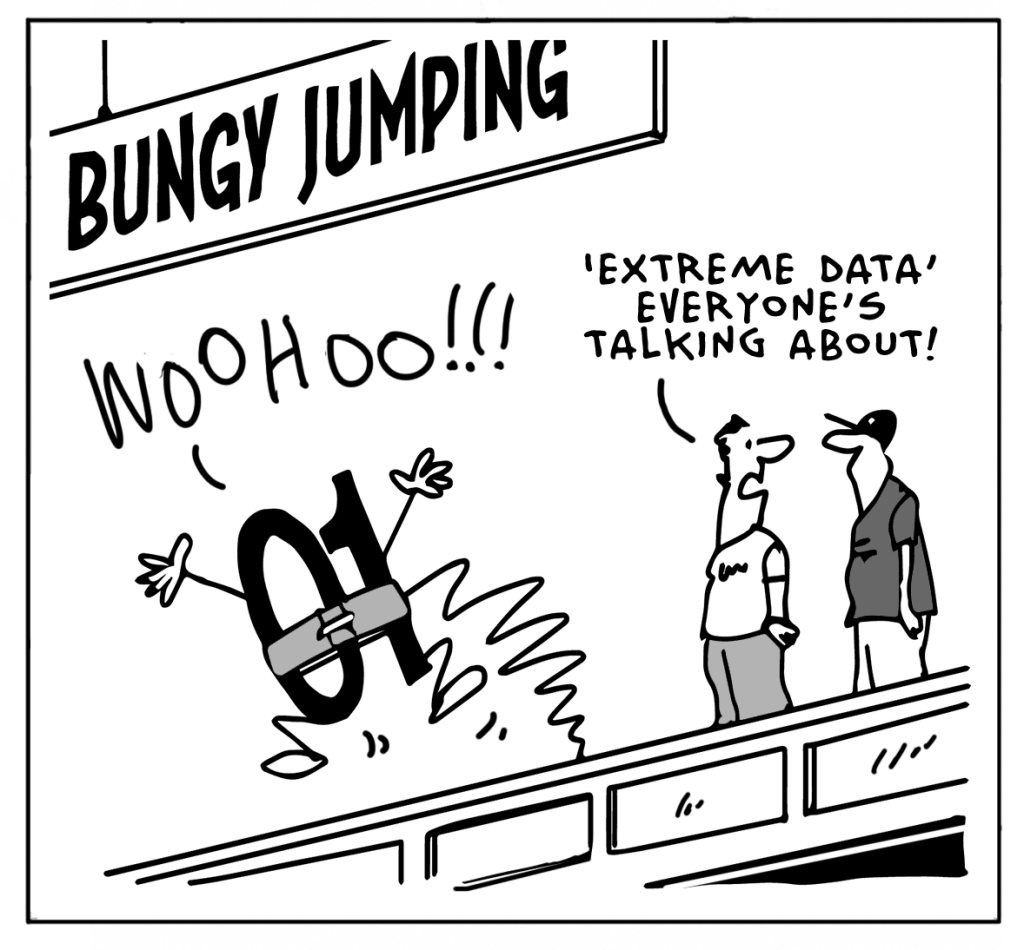 Big Data can be funny too! Take a look at this extreme data comic