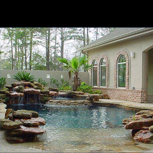 Love This Walk In Pool Backyard Remodel Pinterest