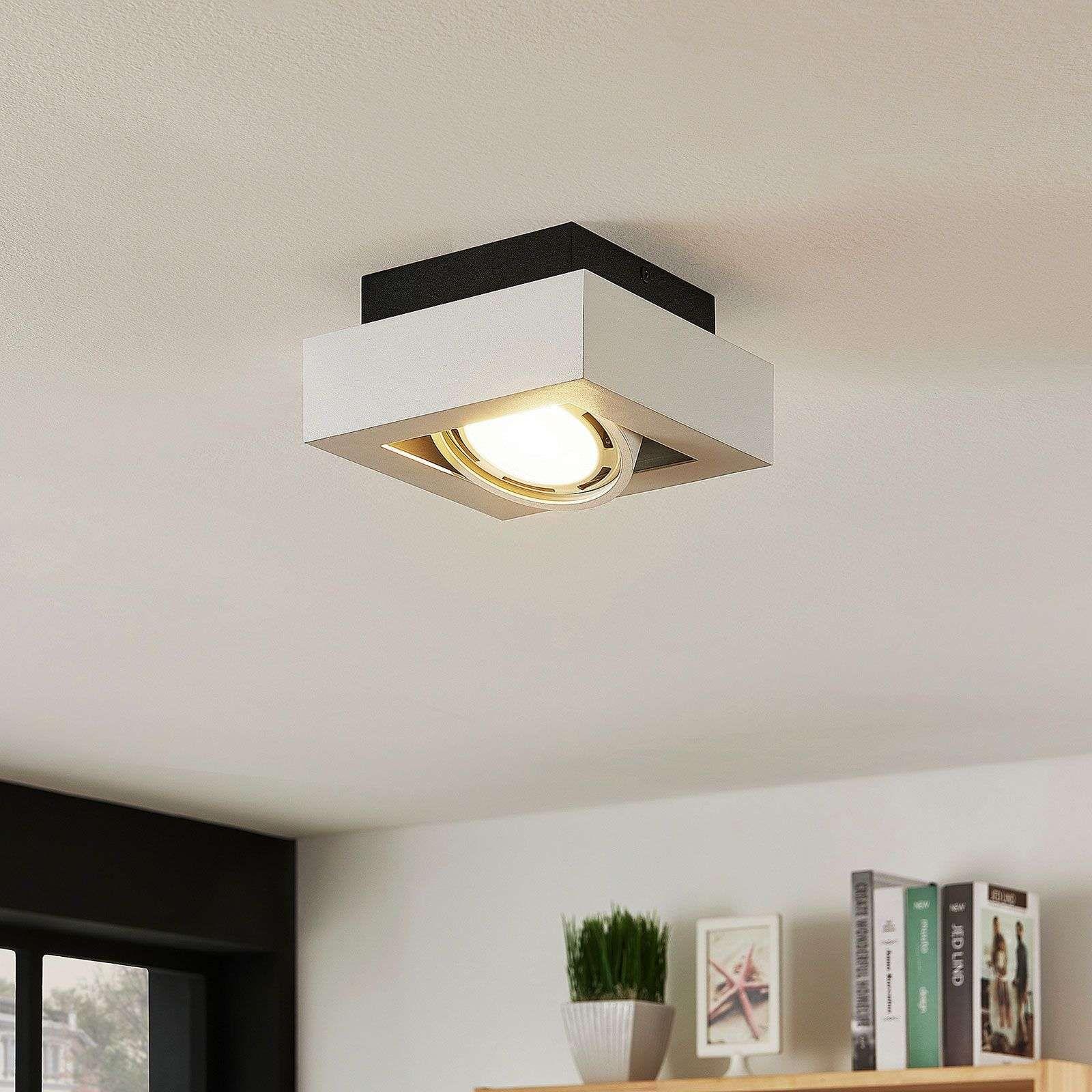 Spot Pour Plafond Led Ronka Gu10 1 Lampe Blanc En 2020 Plafond Lampes Blanches Et Led