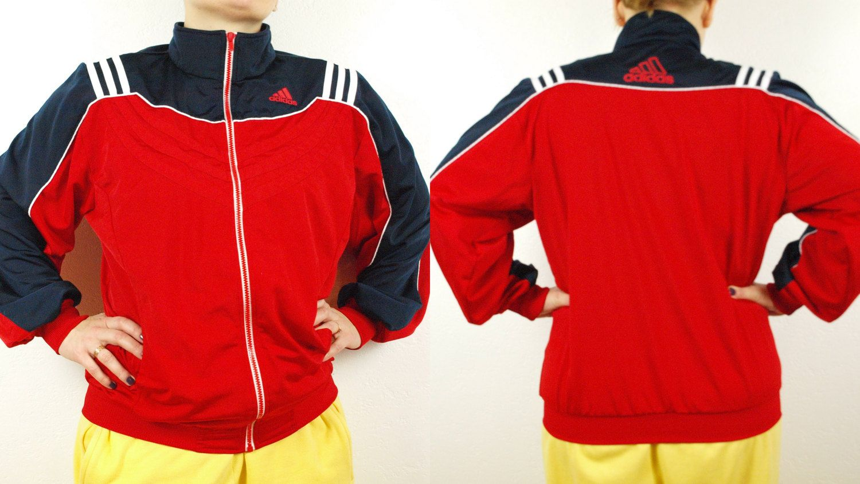 af63f241a Adidas windbreaker, Adidas jacket, Vintage adidas, red and black ...