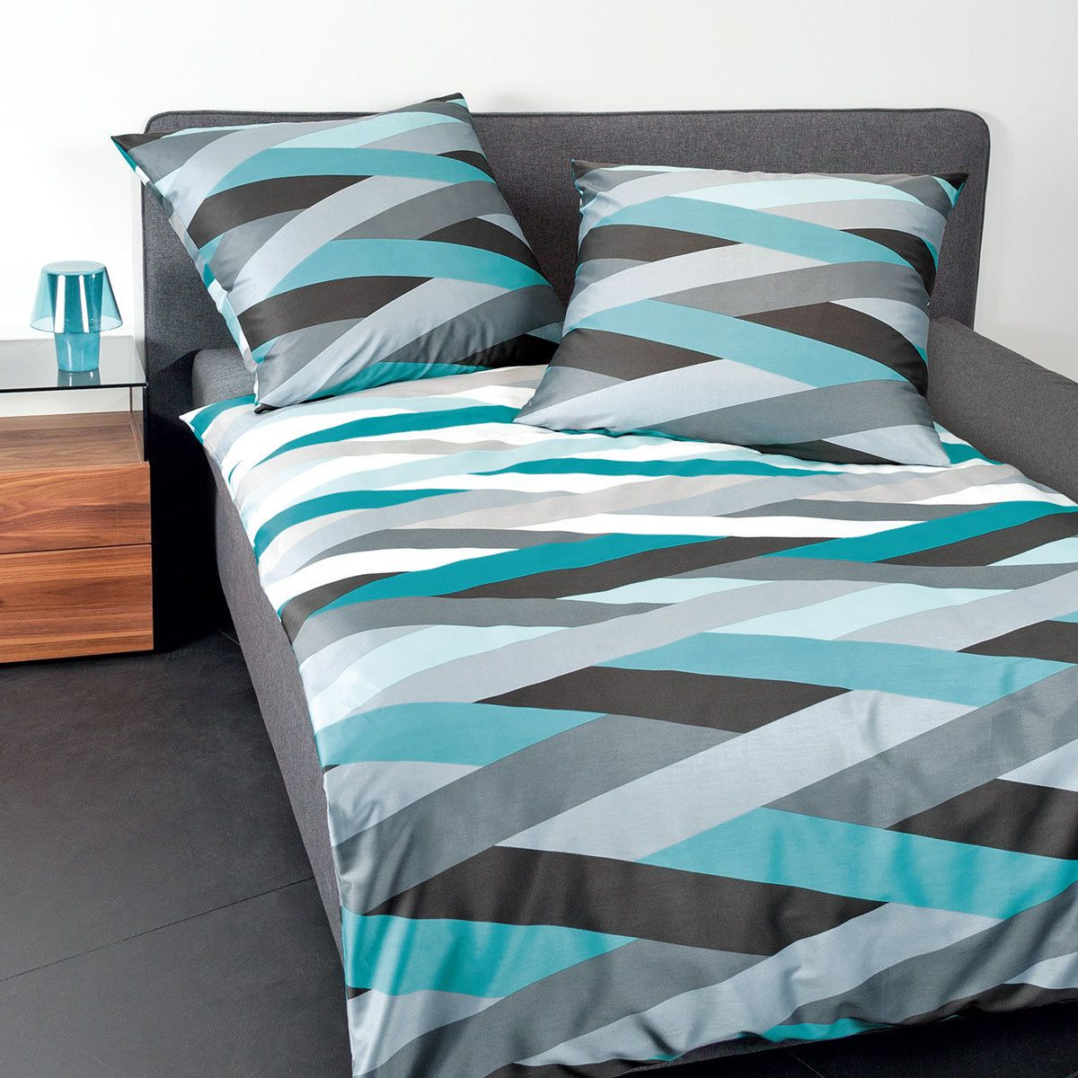 Janine Bettwäsche Kariert Janine Mako Satin Bettwäsche Moments 98020 08 Modern Bedding