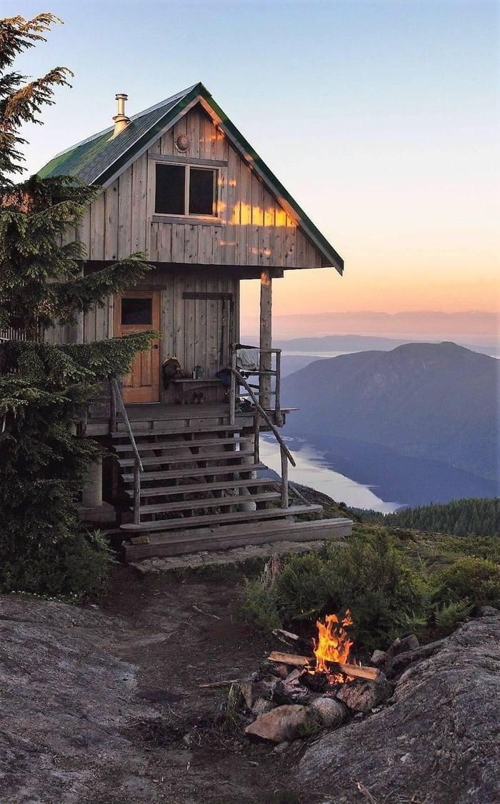 Mountain Side Cabin Cabins In The Woods Architecture Rustic House