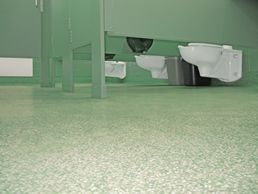 Everlast Waterproof Floor Coating Is An Epoxy Poured Flooring For Public  Restroom Floors. Our Poured Floors Can Also Be Installed Up The Walls For  ...