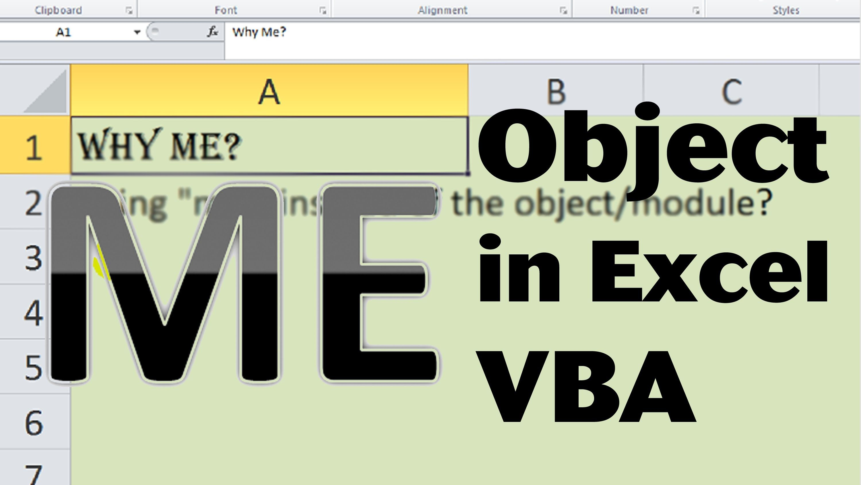 Excel Vba Basics 29 How To Use Me In Excel Vba Me Dot