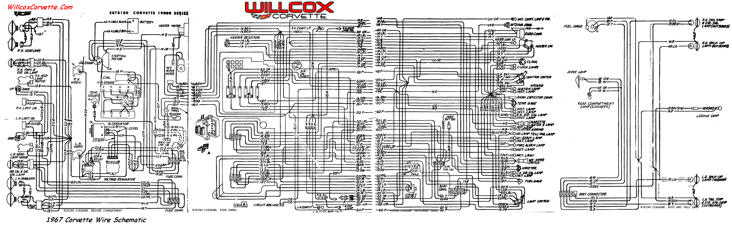 1967 Corvette Wiring Diagram Tracer Schematic Willcox And
