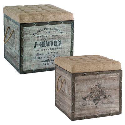 French Wine Crate Ottomans | Telar | Pinterest | Cajas antiguas ...