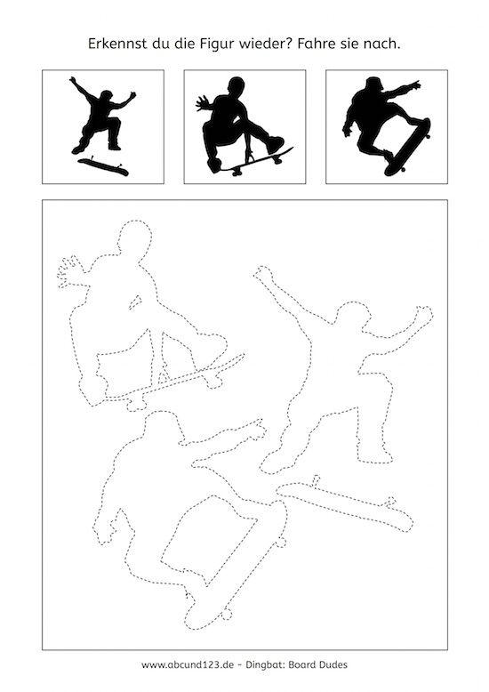 Skaters, Nachfahrübungen, Feinmotorik, AFS-Methode, Aufmerksamkeit ...