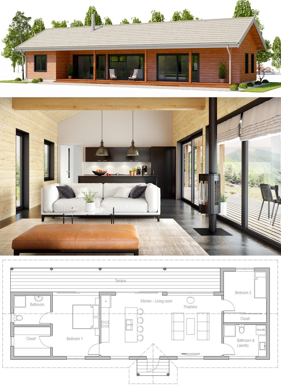 House Design Ch468 Small House Architecture Small House Plans Small House Layout
