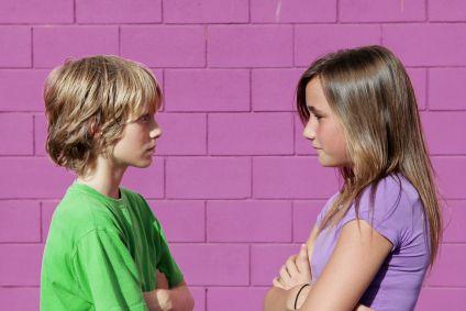 Siblings Talking At Cinema Stock Photo - Image: 47231414