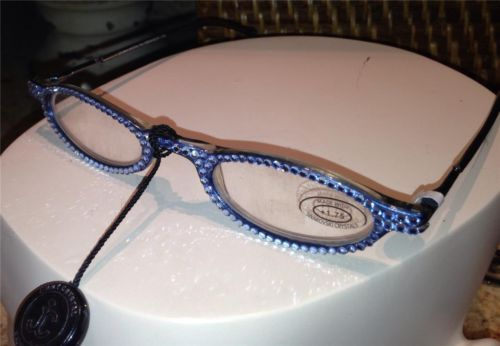 3c020fb856 Auth Jimmy Crystal Swarovski Readers Reading Glasses GL 314 1 75 ...