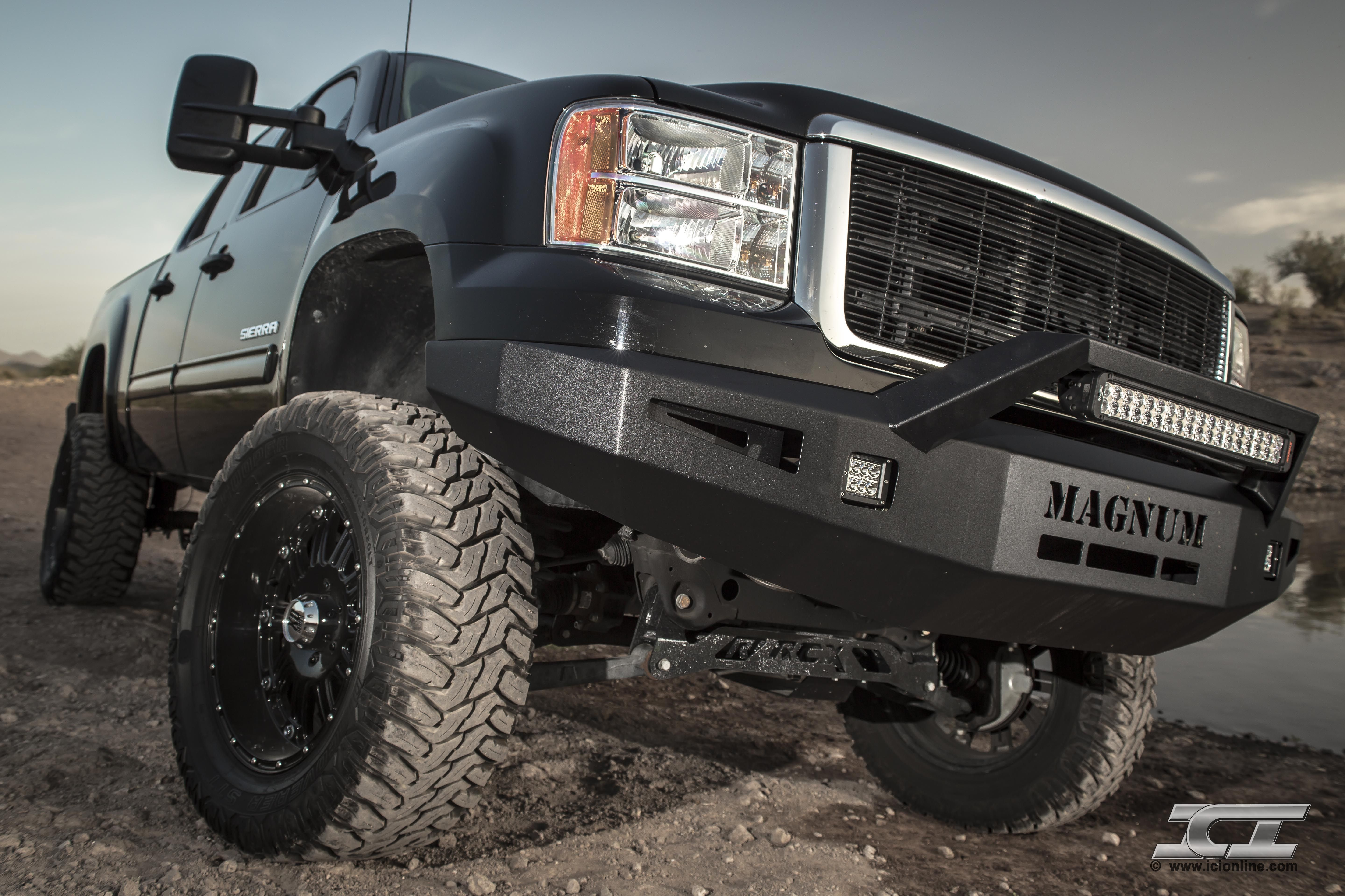 New Magnum Bumper With Rt Series Light Bar For 2007 5 2013