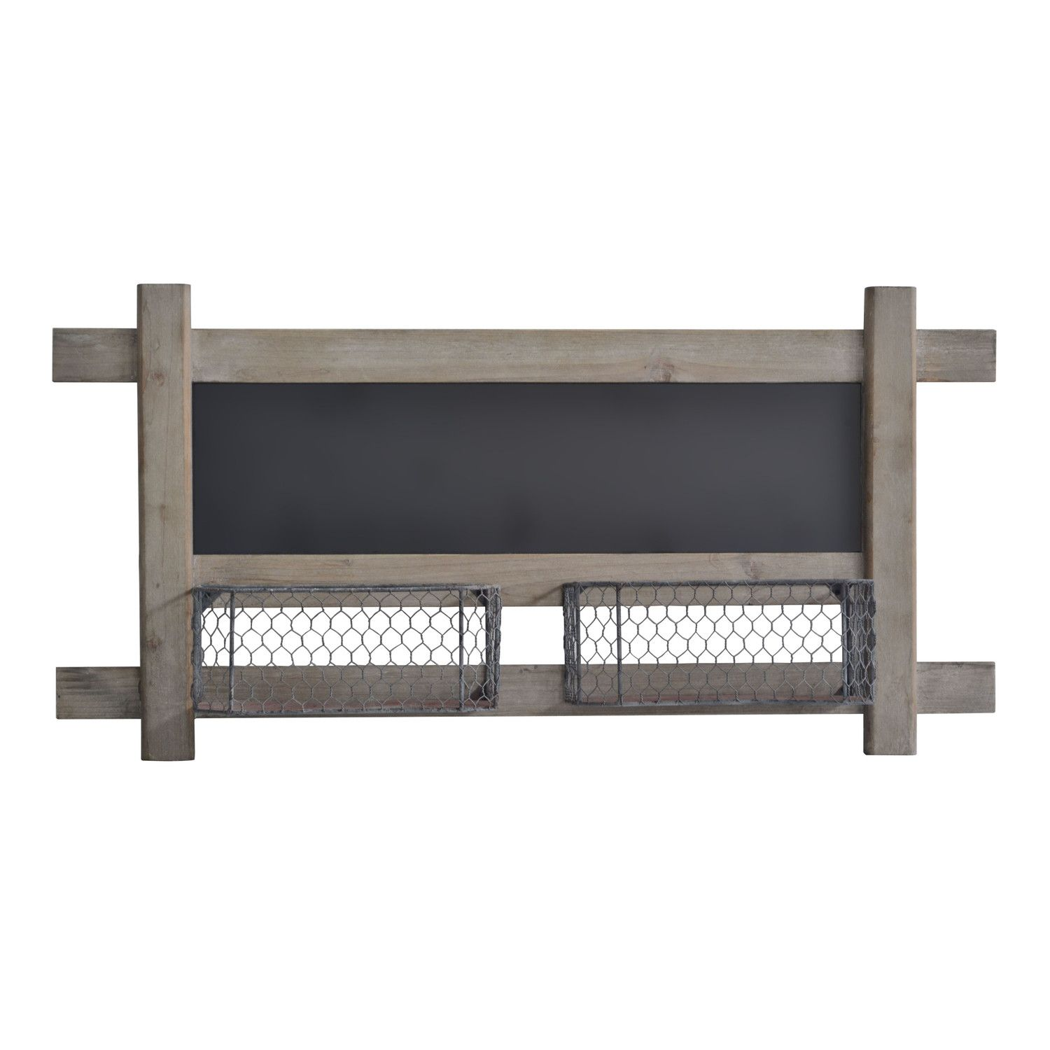 Cheungs Metal Wall Chalkboard with 2 Wire Baskets | For the Home ...