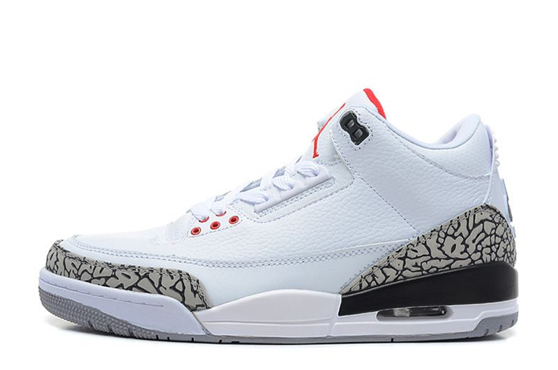 88e2d6080ee8 Air Jordan 3 Retro  88 White Fire Red-Cement Grey-Black For Sale ...