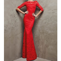 فساتين استرتش فخمة 2019 Red Evening Dress Soft Dress Formal Dresses