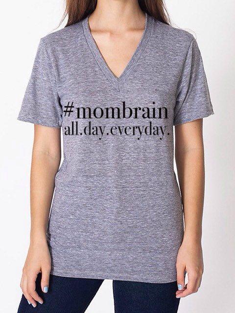 Mom brain tee by FinsFeathersandBows on Etsy