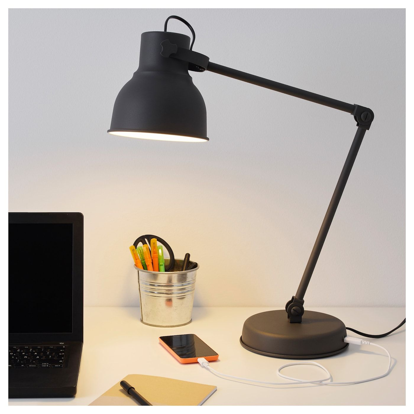 Hektar Work Lamp Dark Gray Work Lamp Lamp Grey Desk Lamps