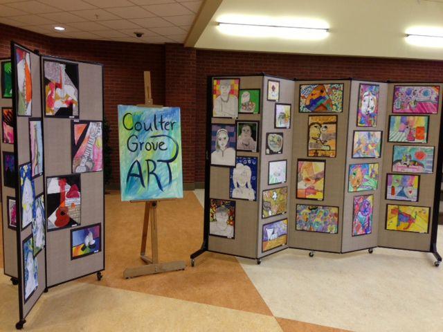 Portable Exhibition Display Boards : Art display screens showcase students talents screenflex portable