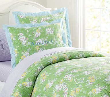 Victoria Quilted Bedding on potterybarnkids.com...Guest Bedroom?